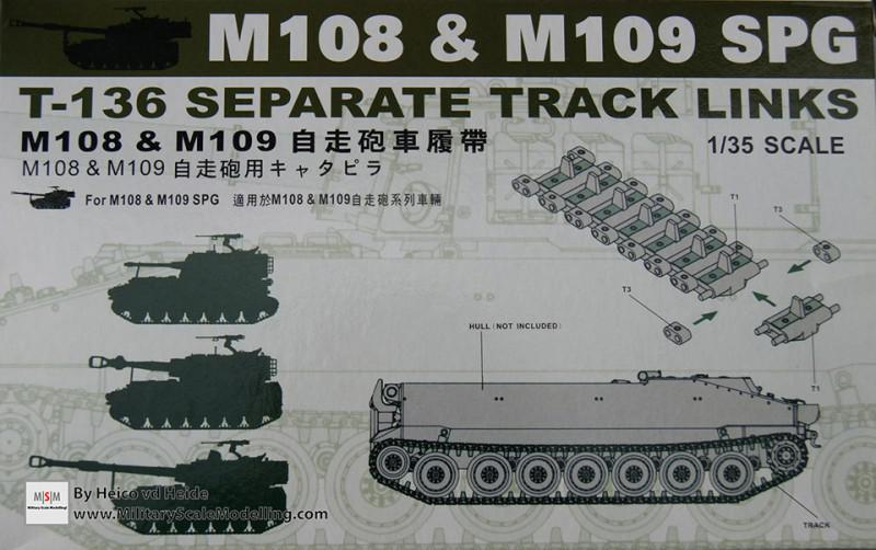 Separate track links for M108 & M109 (AFV Club T-136)