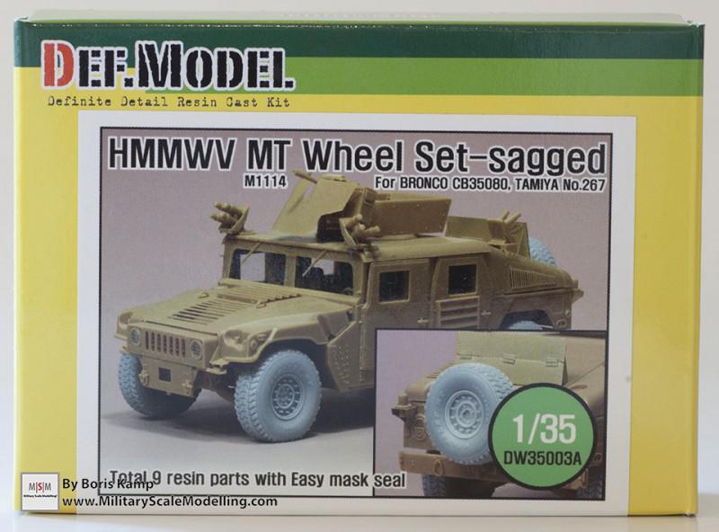 HMMWV MT Wheel set (DEF Model DW35003A)