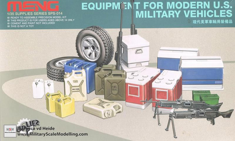 Equipment set for modern US military vehicles (Meng Model SPS-014)