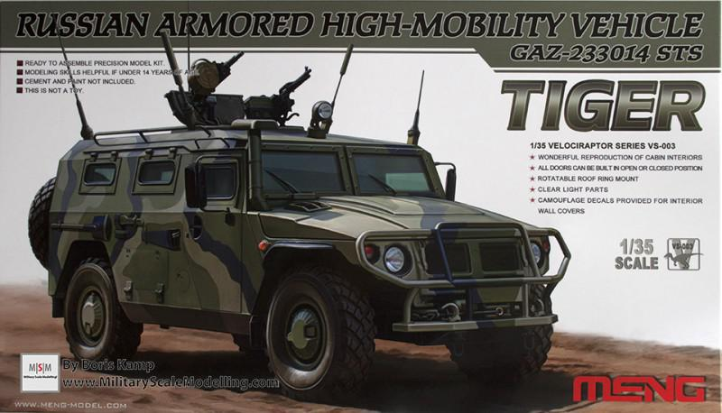 GAZ-233014 STS Tiger Armored Vehicle (Meng Model VS-003)