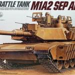 01 M1A2 SEP Abrams TUSK II Boxart Tamiya 35326 review (By Boris Kamp)