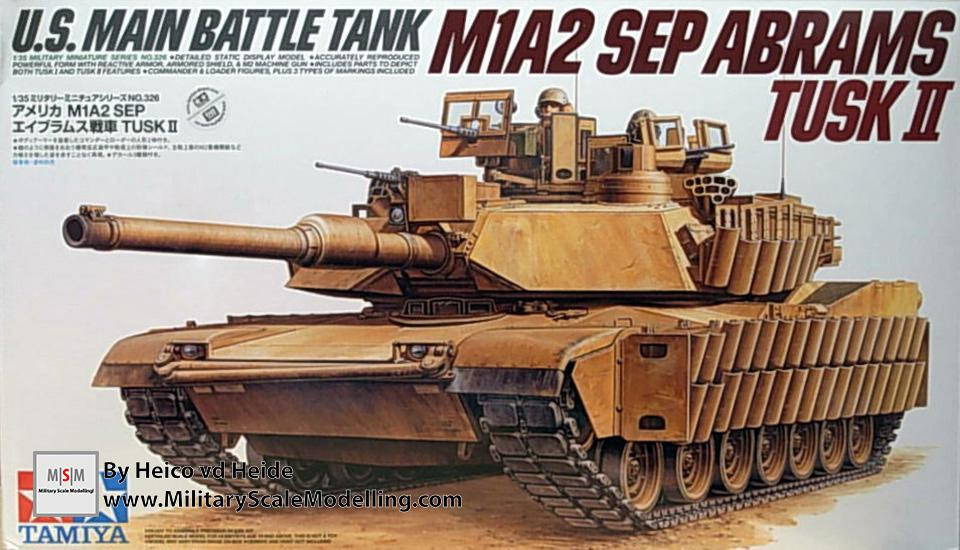 m1a2 sep abrams tusk ii tamiya 35326 military scale modelling