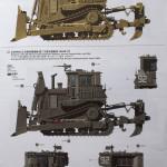 02 Paint Scheme A and B (1:35 D9R Armored Bulldozer Meng SS-002) (By Boris Kamp)