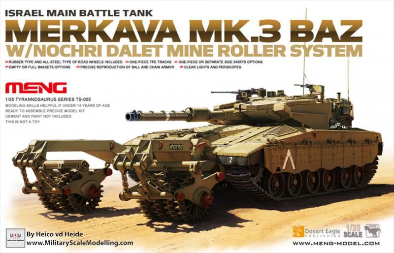Merkava Mk.3 Baz with Mine Roller system (Meng Model TS-005)