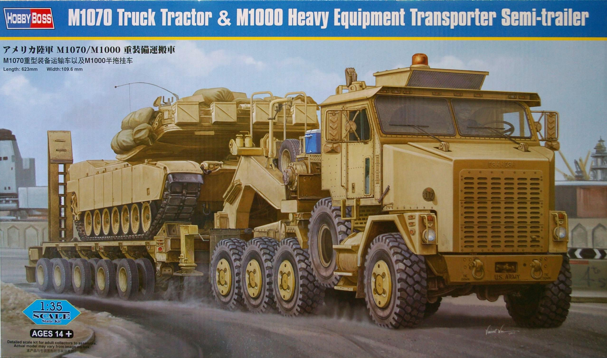 M1070 Truck Tractor & M1000 Heavy Equipment Transporter Semi-Trailer (HobbyBoss 85502)