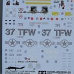 003 content of the box F 117A Nighthawk Tamiya 61059