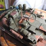 051 all the baggage painted but not yet weathered R O K  K1A1 MBT Academy 13215