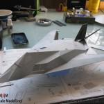 079 put the model in primer to make it ready for the base colour F 117A Nighthawk Tamiya 61059