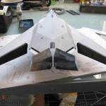083 put the model in primer to make it ready for the base colour F 117A Nighthawk Tamiya 61059