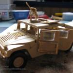 001 a almost fyllo constructed kit with PE M1025 Humvee Arnament Carrier Tamiya 35263