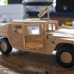 002 a almost fyllo constructed kit with PE M1025 Humvee Arnament Carrier Tamiya 35263