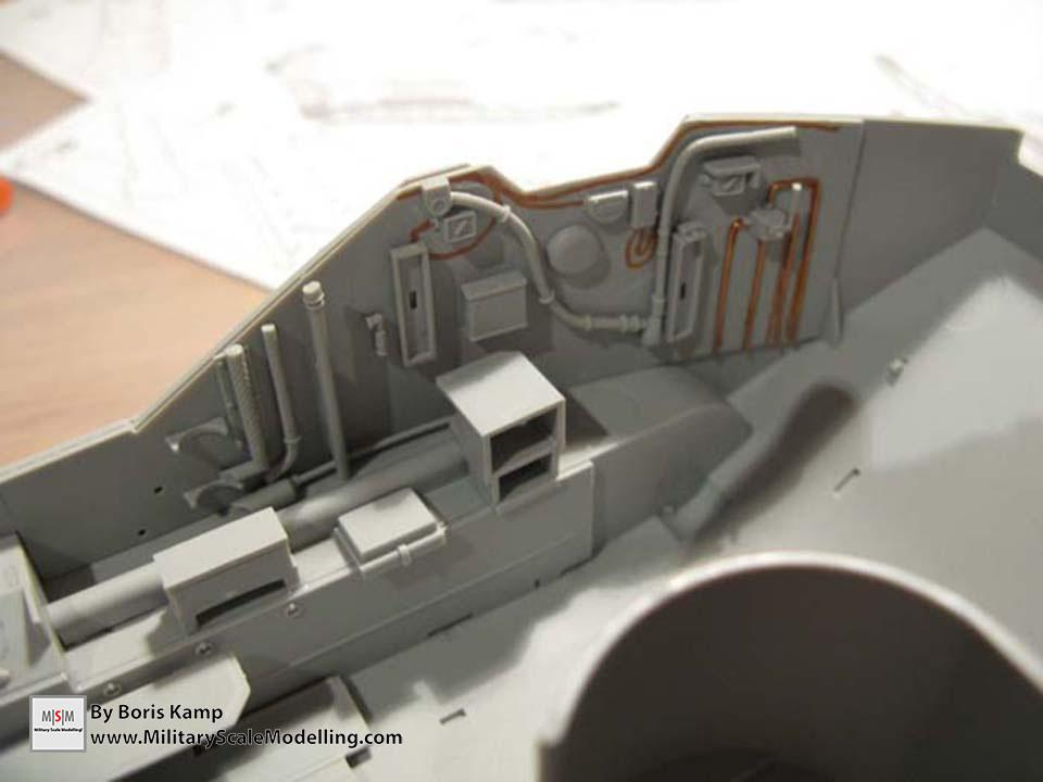 working on the interior (AAVP-7A1 RAM RS HobbyBoss 82415)