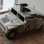 021 painted everything in its base colour and applied decals M1025 Humvee Arnament Carrier Tamiya 35263