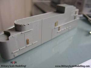 052 Adding PE doors to the main stucture JPG USS ESSEX CV9 In Progress Pictures