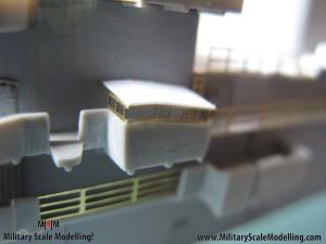 075 creating a radar tower JPG USS ESSEX CV9 In Progress Pictures