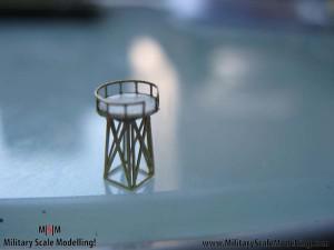 079 creating a radar tower JPG USS ESSEX CV9 In Progress Pictures