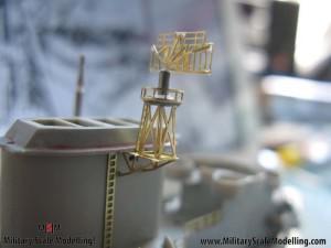 082 creating a radar tower JPG USS ESSEX CV9 In Progress Pictures