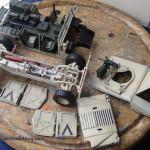 086 a overview of the loose parts M1025 Humvee Arnament Carrier Tamiya 35263