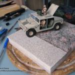 089 how i created the diorama base M1025 Humvee Arnament Carrier Tamiya 35263