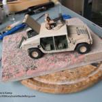 090 how i created the diorama base M1025 Humvee Arnament Carrier Tamiya 35263