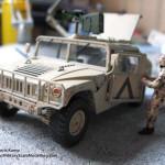 098 how i created the diorama base M1025 Humvee Arnament Carrier Tamiya 35263