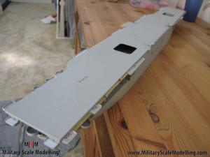 102 added walkways along the upper deck JPG USS ESSEX CV9 In Progress Pictures