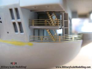 103 added walkways along the upper deck JPG USS ESSEX CV9 In Progress Pictures