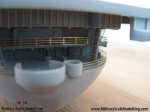 104 added walkways along the upper deck JPG USS ESSEX CV9 In Progress Pictures