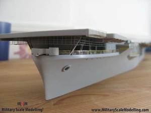 110 added fencing to the sides JPG USS ESSEX CV9 In Progress Pictures