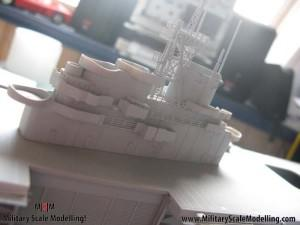 120 - painted with primer, still alot to do.JPG - USS ESSEX CV9 In Progress Pictures
