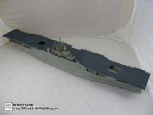 142 1 350 USS Essex CV 9 Painted the flightdeck and vertical surface of the hull