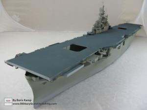 145 1 350 USS Essex CV 9 Painted the flightdeck and vertical surface of the hull