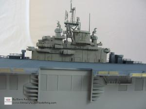 146 1 350 USS Essex CV 9 A view of the island