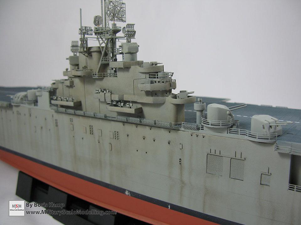 USS Essex Weathered island