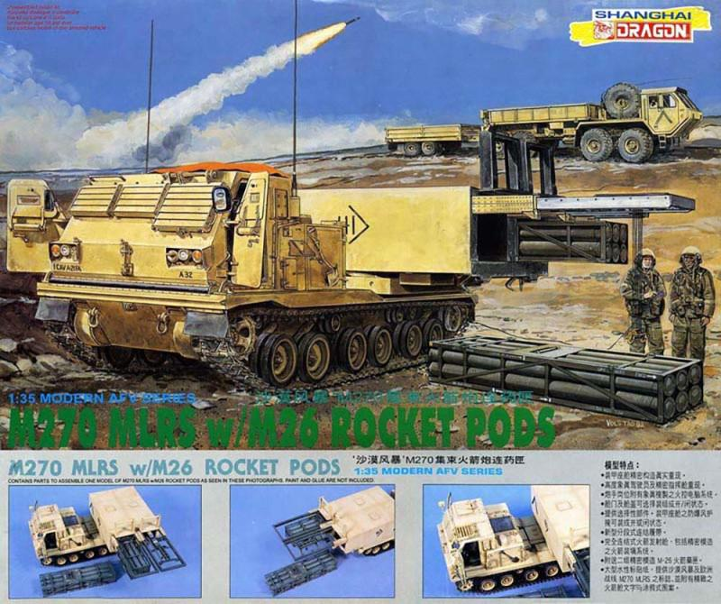 M270 MLRS w/M26 Rocket Pods (Dragon 3523)