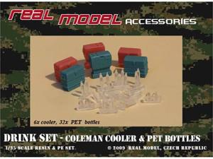 Drink Set – Coleman Cooler & PET Bottles (Real Model RMA35152)