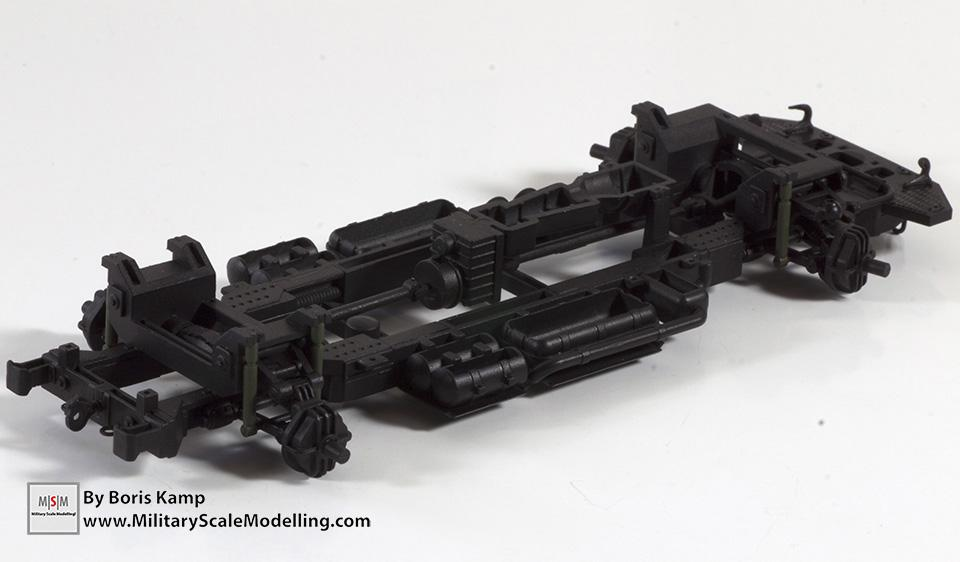 Painted chassis frame - (Meng 1:35 GAZ-2330 Tiger)