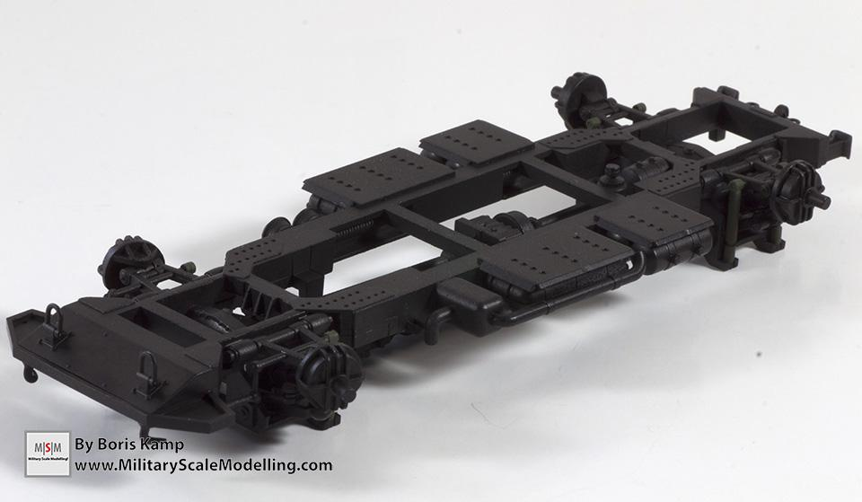 Bottom of the chassis frame - (Meng 1:35 GAZ-2330 Tiger)