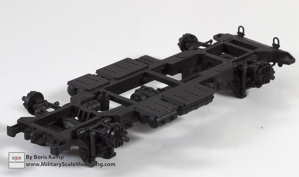 chassis frame bottom- (Meng 1:35 GAZ-2330 Tiger)