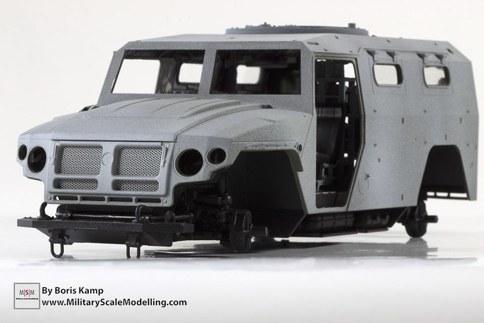Dryfit of the hull (Meng 1:35 GAZ-2330 Tiger)