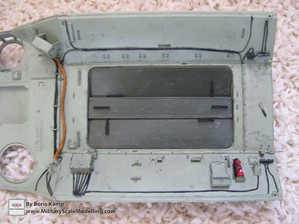 The upperhull (AAVP-7A1 RAM RS HobbyBoss 82415)