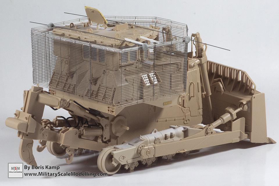 added bastion cage armor (1:35 D9R Bulldozer Meng SS-002)