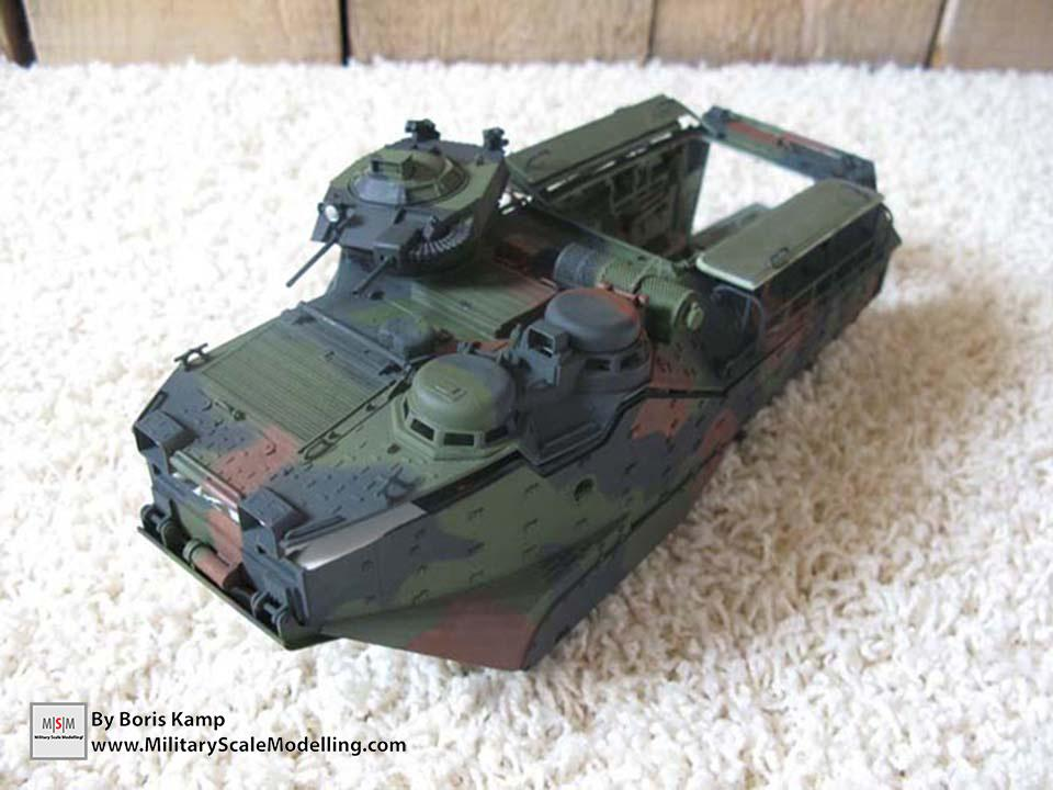 Applied the three tone NATO camo (AAVP-7A1 RAM RS HobbyBoss 82415)