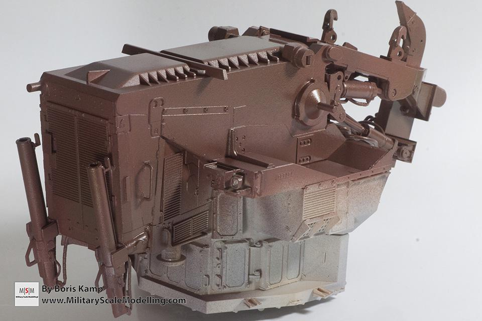 rust color added over steel (1:35 D9R Bulldozer Meng SS-002)