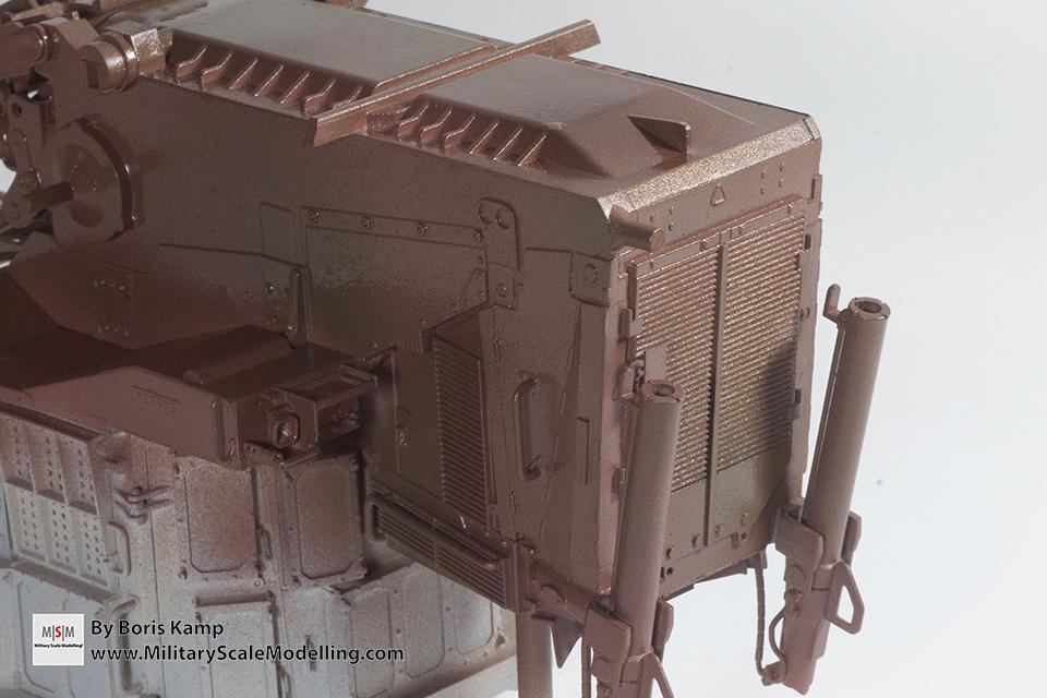 close-up rust color added (1:35 D9R Bulldozer Meng SS-002)