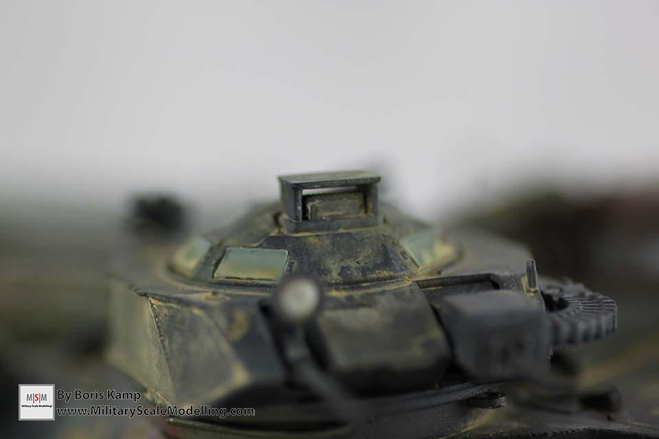 Detail shot of the turret (AAVP-7A1 RAM RS HobbyBoss 82415)