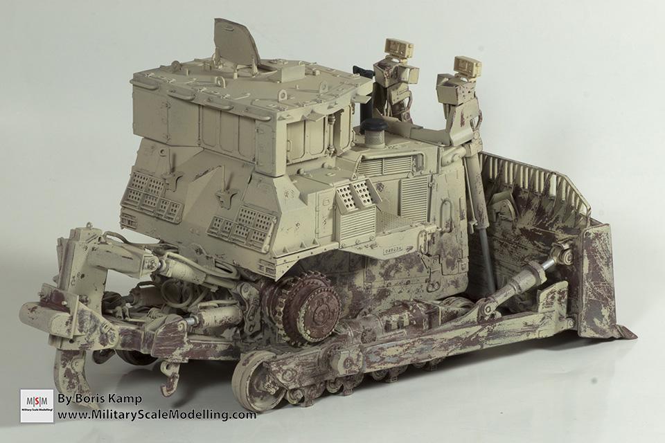 heavy worn effect (1:35 D9R Bulldozer Meng SS-002)