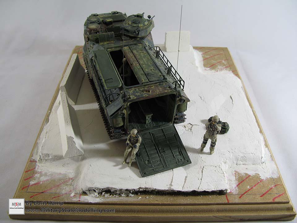 damaged plaster (AAVP-7A1 RAM RS HobbyBoss 82415)