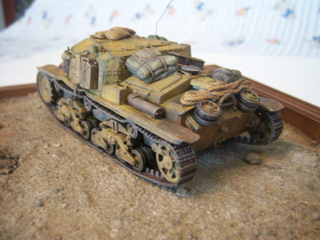 """This is a """"Semovente"""" I built a while back. The old Tamiya kit , went together nicely as"""
