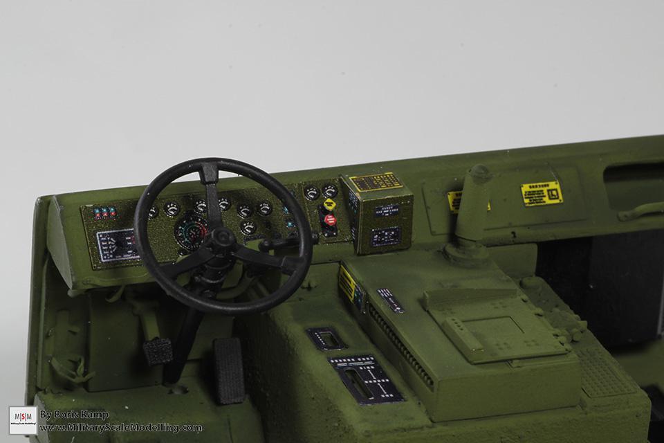 M1070 dashboard interior (M1070 Truck Transporter & M1000 HET)